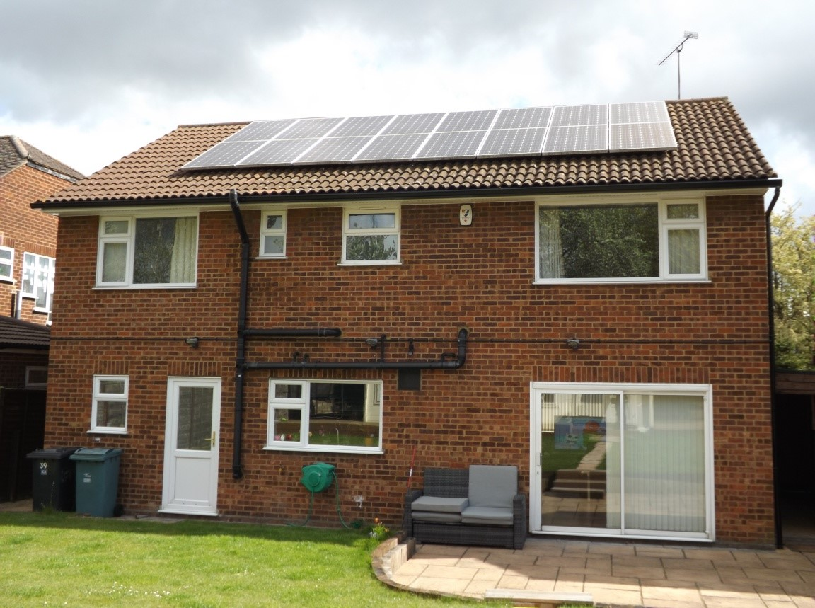 4 bed detached with solar panels
