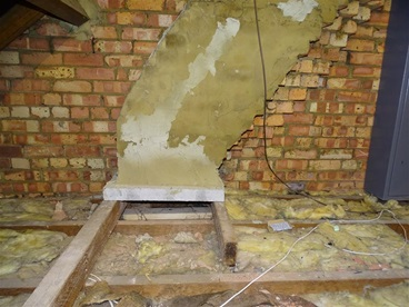 chimney breasts removed
