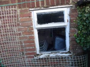 Replace shed window